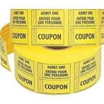Ticket Roll-Double-Admit One-Multi Color-1000pk/2.25''