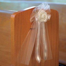 "Wedding Bow-Ivory Flower-1pkg-14"""