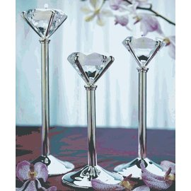 "Diamond Shaped Tealight Holder-3pkg-7.25""-10"""