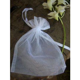 Organza Favor Bags-White-6pkg