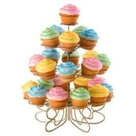 "Mini Dessert Stand for 24 Cupcakes-4 Levels-1pkg-10.5"""