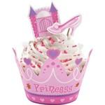 Cupcake Wraps & Picks-Pink Princess-24pkg