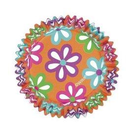 "Baking Cups-Vibrant Flowers-36pkg-2"""