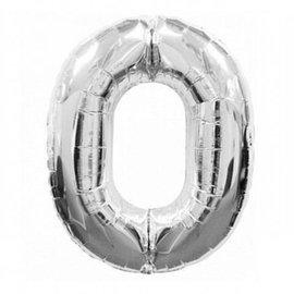 """Foil Balloon - Silver #0 - 34"""""""