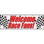 Party Banner - Plastic - Welcome Race Fans-1pkg