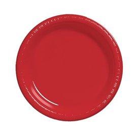 "Plates Plastic Classic red 7 "" (20pk)"