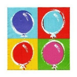 Napkins-BEV-Balloon Party-16pkg-2ply - Discontinued