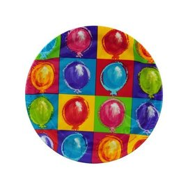 Plates-LN-Balloon Party-8pkg-Paper