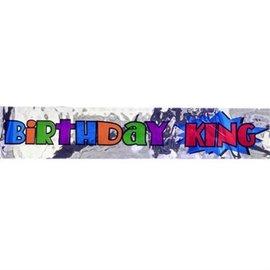 Sash-Birthday King-Silver