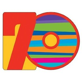 Invitations-70th Birthday Stripes-8pkg
