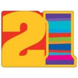 Invitations-21st Birthday Stripes