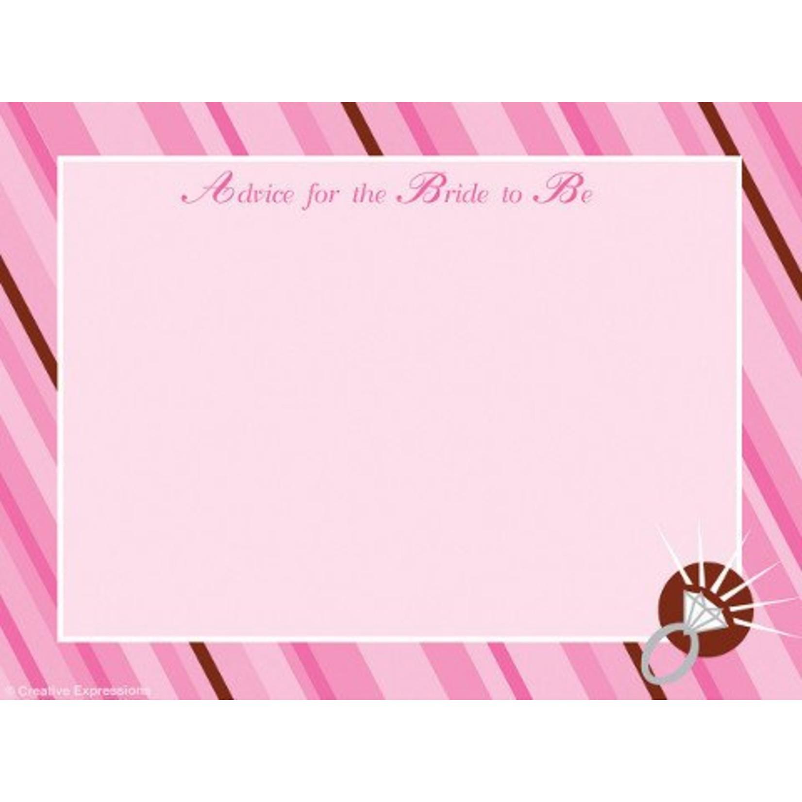 Advice Cards-Bride To Be-20pkg