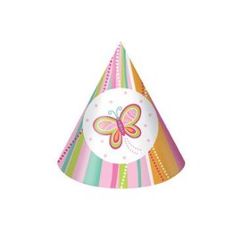 Hats-Cone-Mod Butterfly-8pkg-Paper