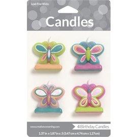 Candles-Mod Butterfly-4pkg