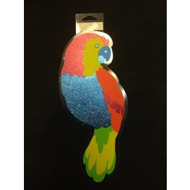 Cutout-Parrot-Glitter-Plastic-12.5'' (Discontinued)
