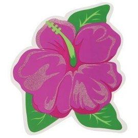 "Cutout-Hibiscus Glittered Flower-1pkg-12.5"""