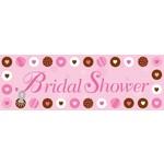 Party Banner-Plastic-Bride To Be Dots-1pkg