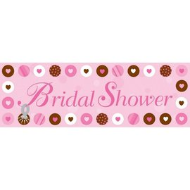 Party Banner-Plastic-Bride To Be Dots-1pkg
