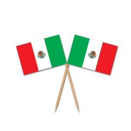 Flag Picks-Mexican Flag-12pkg-3""