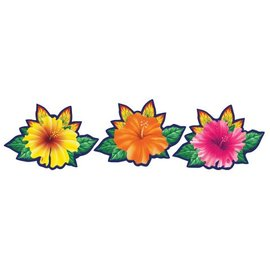 "Cutouts-Assorted Luau Flowers-3pkg-15"" (Discontinued)"