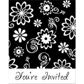 Invitation-Cosmic Flowers-8pk