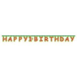 Jointed Banner-Jungle Buddies 1st Birthday-1pkg-7.23ft