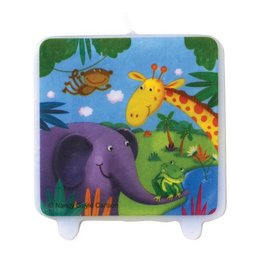 Candle-Jungle Buddies-1pkg
