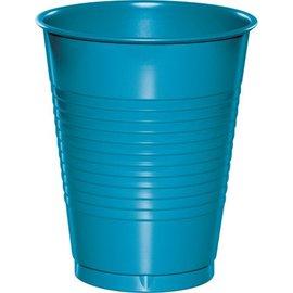 Plastic Cups-Turquoise-20pkg-16oz
