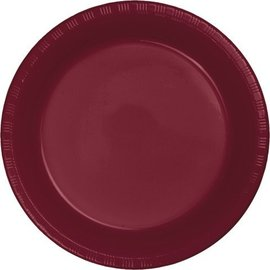 Plates-BEV-Burgundy-20pkg-Plastic