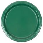 Plates LN-Paper/Hunter Green 24pk