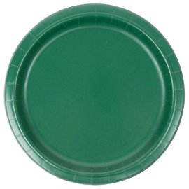 Plates LN-Paper/Hunter Green 24pk