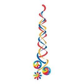 """Danglers-Foil Swirl-Retro Tie Dye-2pkg-36"""""""