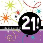 Napkins-BEV-Life is Great at 21-16pkg-3ply