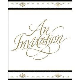 Invitations-Stafford Gold-8pkg