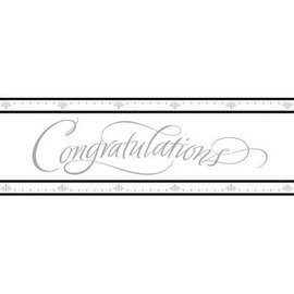 Giant Sign Banner-Congratulations-Plastic-60''x20''