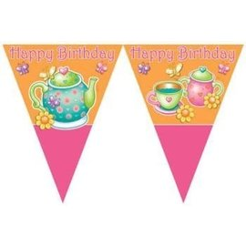 Flag Banner-Tea Party-Plastic-12ftx10'' (Discontinued)
