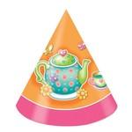 Hats-Cone-Tea Party-8pkg-Paper