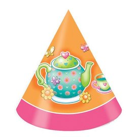 Hats-Cone-Tea Party-8pkg-Paper