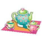 """Centerpiece Kit-Tea Party-4pkg-4""""-11.75"""" (Discontinued)"""