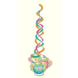 Danglers-Foil Swirl-Tea Party-2pkg-36""