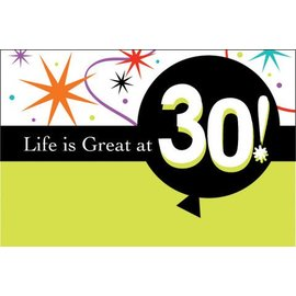 Invitations-Life is Great at 30-8pk