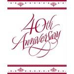 Invitations-Ruby 40th Anniversary-25pkg
