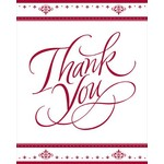 Thank You Cards-Ruby 40th Anniversary-8pkg