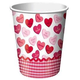 Cup-Valentine-Sweet Greetings-Paper-9oz-8pk