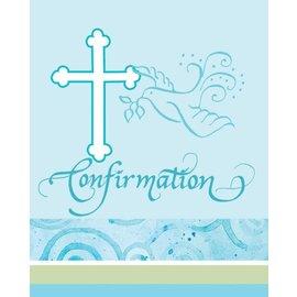 Invitations- Blue confirmation-8pk (Seasonal)