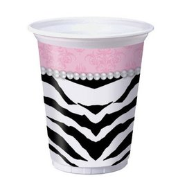 Plastic Cups-Sassy And Sweet-8pkg-16oz - Discontinued