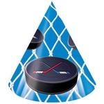 Hats-Cone-Hockey Fanatic-8pkg-Paper