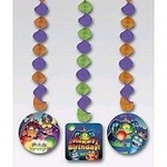 """Hanging Cutouts-Swirl-Monster Mania-3pkg-36"""" (Discontinued)"""