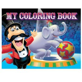 Cololuring book-Circus-4pk