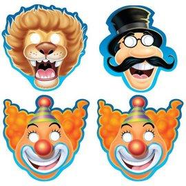 Paper Masks-Big Top Circus-8pkg-Paper